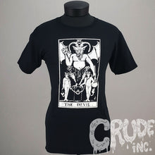 Tarot Devil t-shirt, horror tshirt, Goth Tee, screen printed T shirt