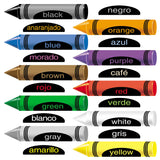 Crayons with English & Spanish