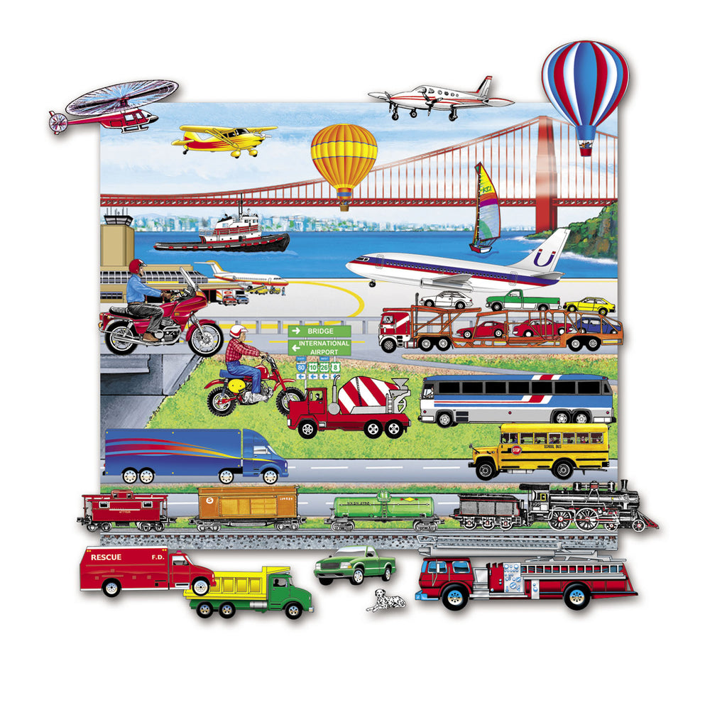Trucks, Trains, & Planes Set