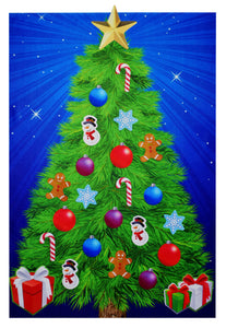 Starry Night Felt Christmas Tree