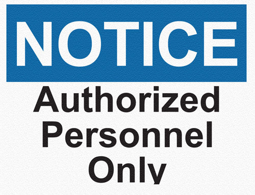 Notice - Authorized Personnel - IRONmarker Grip