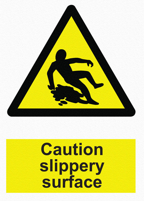 Hazard Warning - Caution Slippery Surface - IRONmarker Ultra