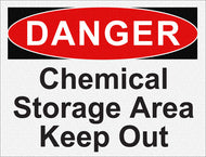 Danger - Chemical Storage Area Keep Out - IRONmarker Grip