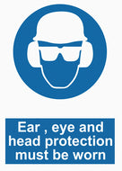 Mandatory - Ear , Eye And Head Protection - IRONmarker Grip