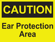 Caution - Ear Protection Area - IRONmarker Ultra