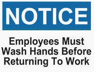 Notice - Employees Must Wash Hands - IRONmarker Grip
