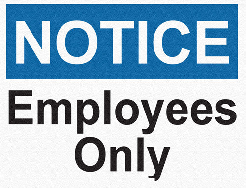 Notice - Employees  Only - IRONmarker Grip