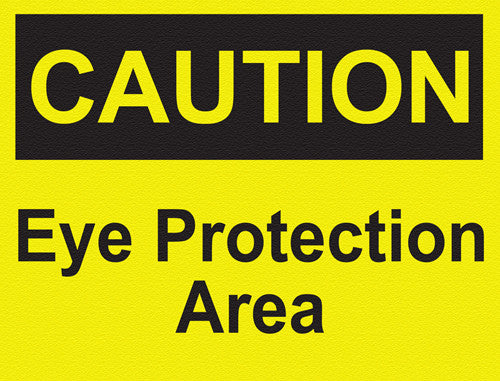 Caution - Eye Protection Area - IRONmarker Grip