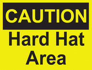 Caution - Hard Hat Area - IRONmarker Grip