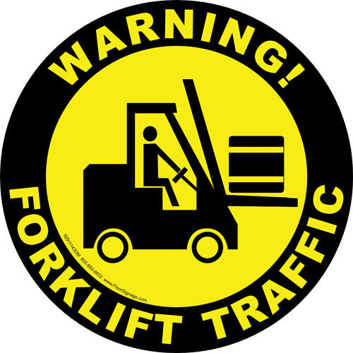 Warning! Forklift Traffic - IRONmarker Ultra