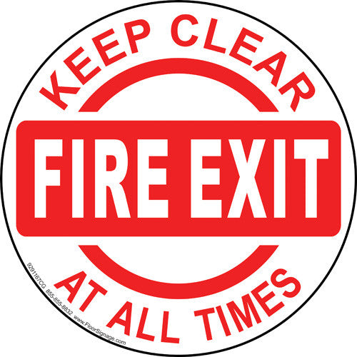 Fire Exit Keep Clear At All Times - IRONmarker Grip
