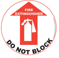 Fire Extinguisher Do Not Block - IRONmarker Ultra