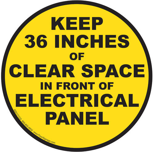 Keep 36 Inches of Clear Space in Front of Electrical Panel - IRONmarker Grip