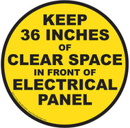 Keep 36 Inches of Clear Space in Front of Electrical Panel - IRONmarker Ultra