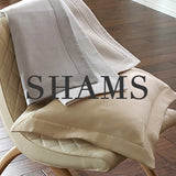 Angelina neutral colored pillow shams