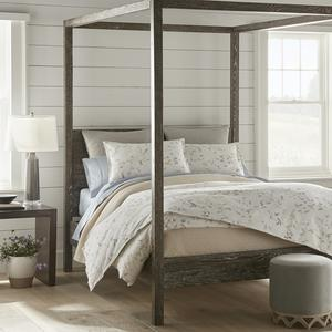 Avery duvet cover and shams styled in neutral bedroom
