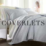 Juliet light barely blue matelasse coverlet