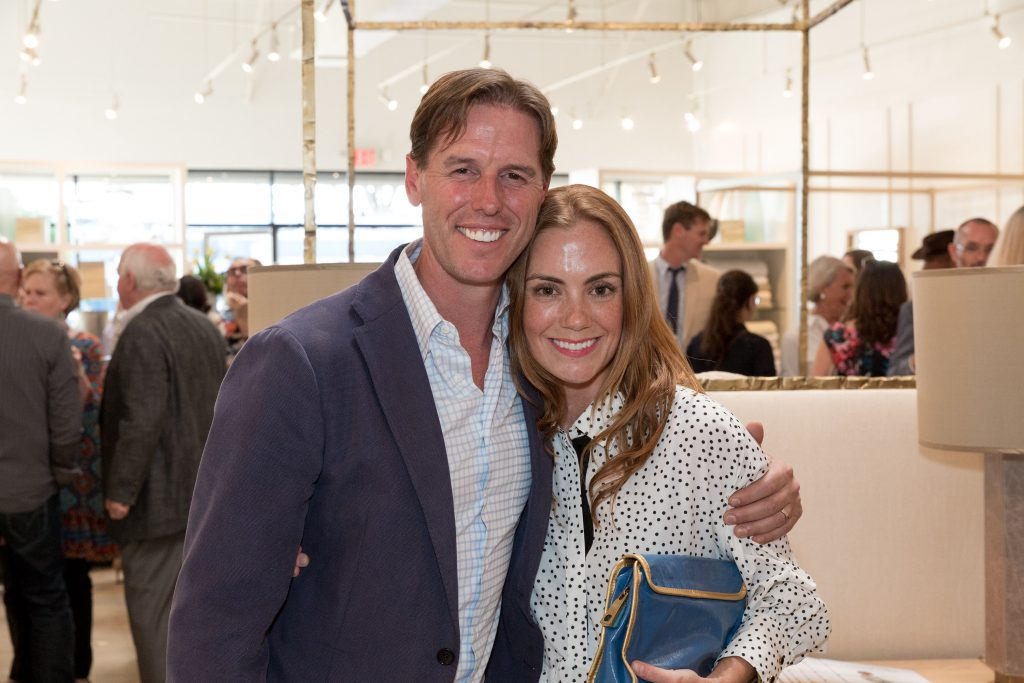 Josh Needleman and Sarah Wittenbraker at the opening of the new Peacock Alley store in Austin, TX