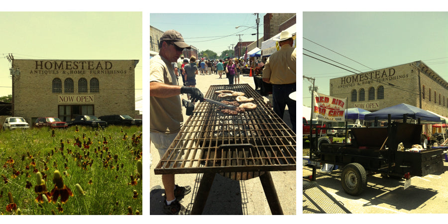 Homestead Antiques & Home Furnishings and the Texas Steak Cookoff in Hico, TX