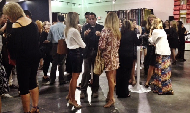 Crowd at Cantoni Dallas for Dwell with Dignity's Thrift Studio Kickoff