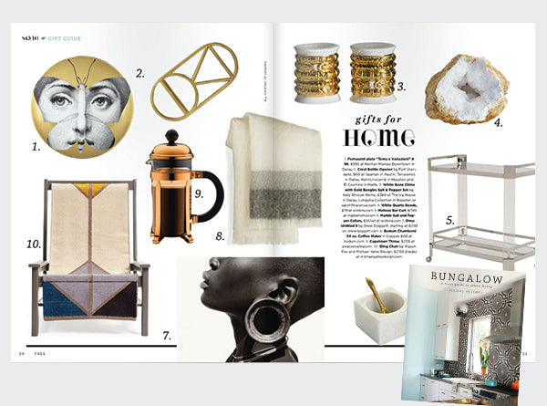 Bungalow Magazine's gifts for the home from their Fall 2014 issue