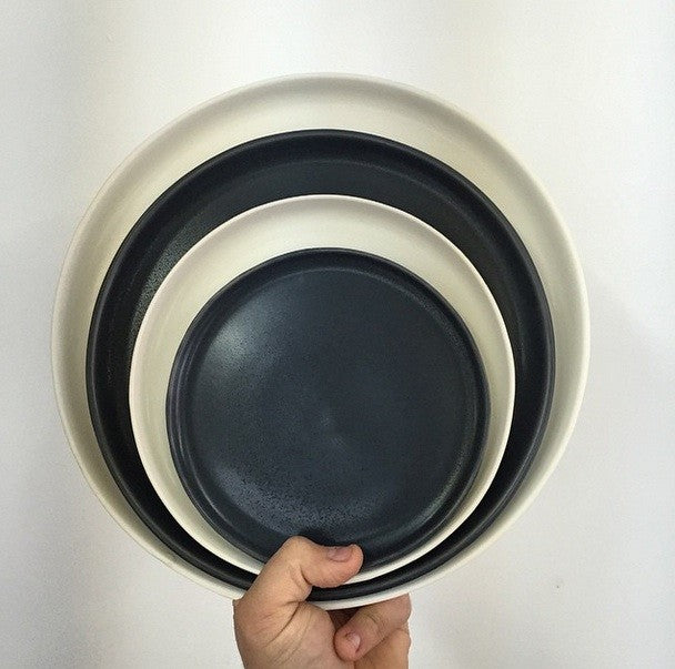 Handmade dishes by Felt + Fat in navy and white