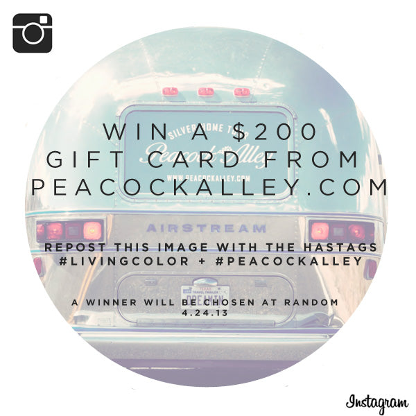 Peacock Alley Instagram Contest, win a $200 gift card