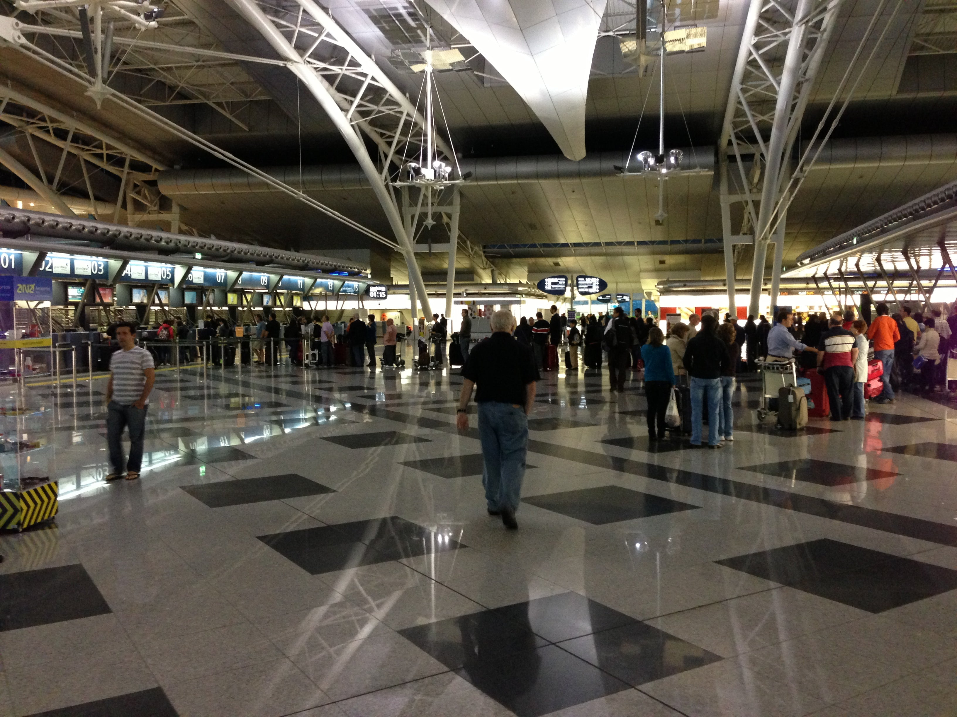 Airport lines as we are heading home from Portugal
