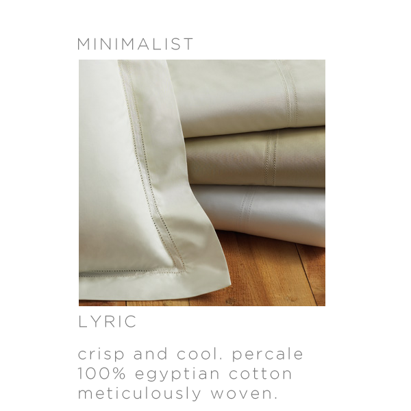 The perfect bed sheets for minimalists