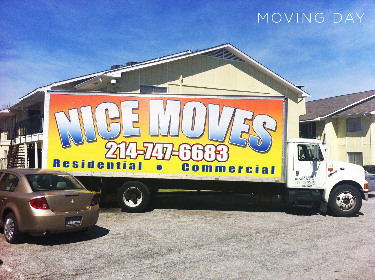 Nice Moves moving truck, ready to deliver a beautiful home for Dwell with Dignity