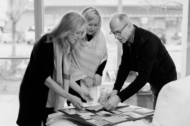 Leslie Eades, Manuel Daboub and Linda Gruntorad, the creative minds behind Peacock Alley's Modern Heirloom collection
