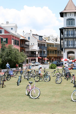Bicycles: the primary mode of transportation in Rosemary Beach, Florida