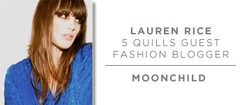 Lauren Rice, 5 Quills Guest Fashion Blogger, aka Moonchild
