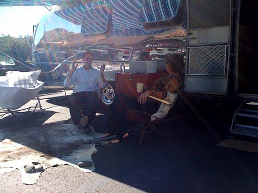 Josh enjoys spending time on the road and meeting new people thanks to the Peacock Alley Airstream!
