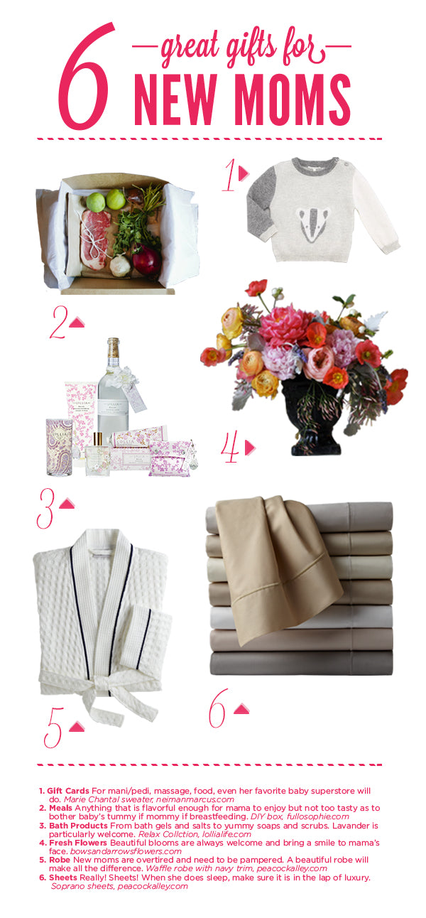 Six great gifts for new moms