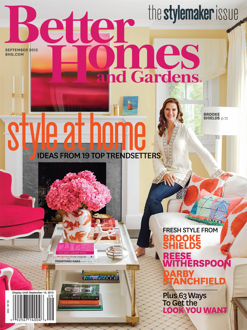 Cover image of Better Homes and Gardens magazine, September 2015