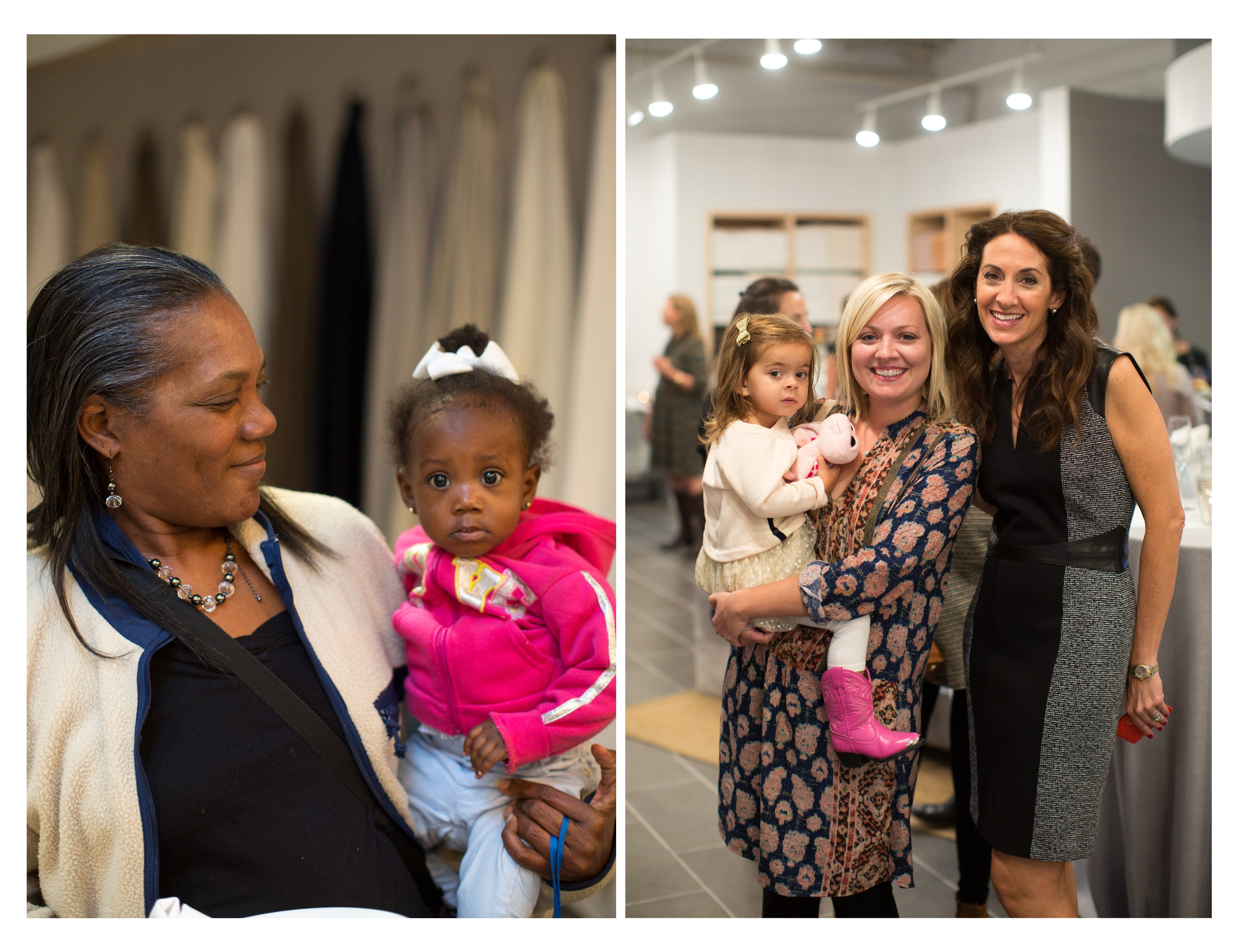 Some of the youngest guests to visit the grand opening, with their families