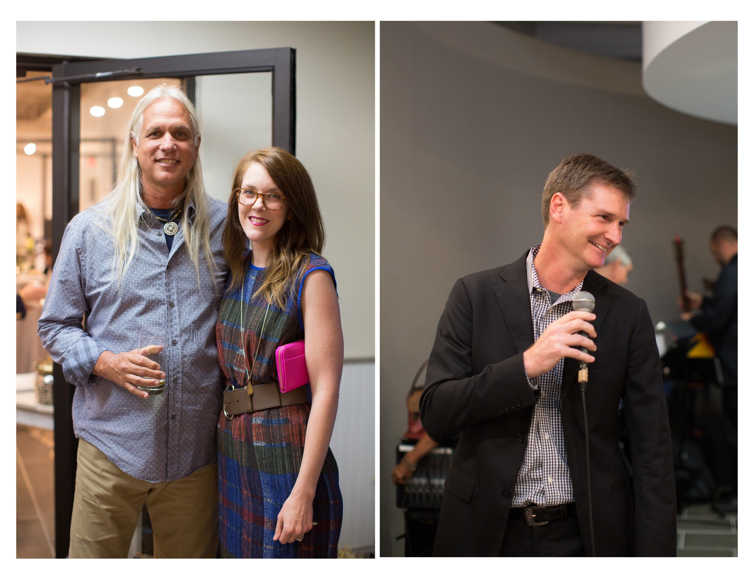 Guests (left) and Jason Needleman (right) at the Peacock Alley Nashville Opening