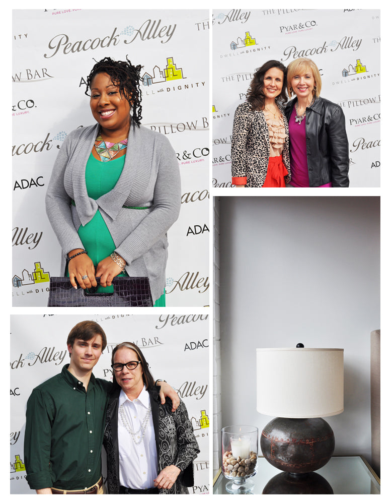 Collage of photos from the Dwell With Dignity Atlanta Wrap Party