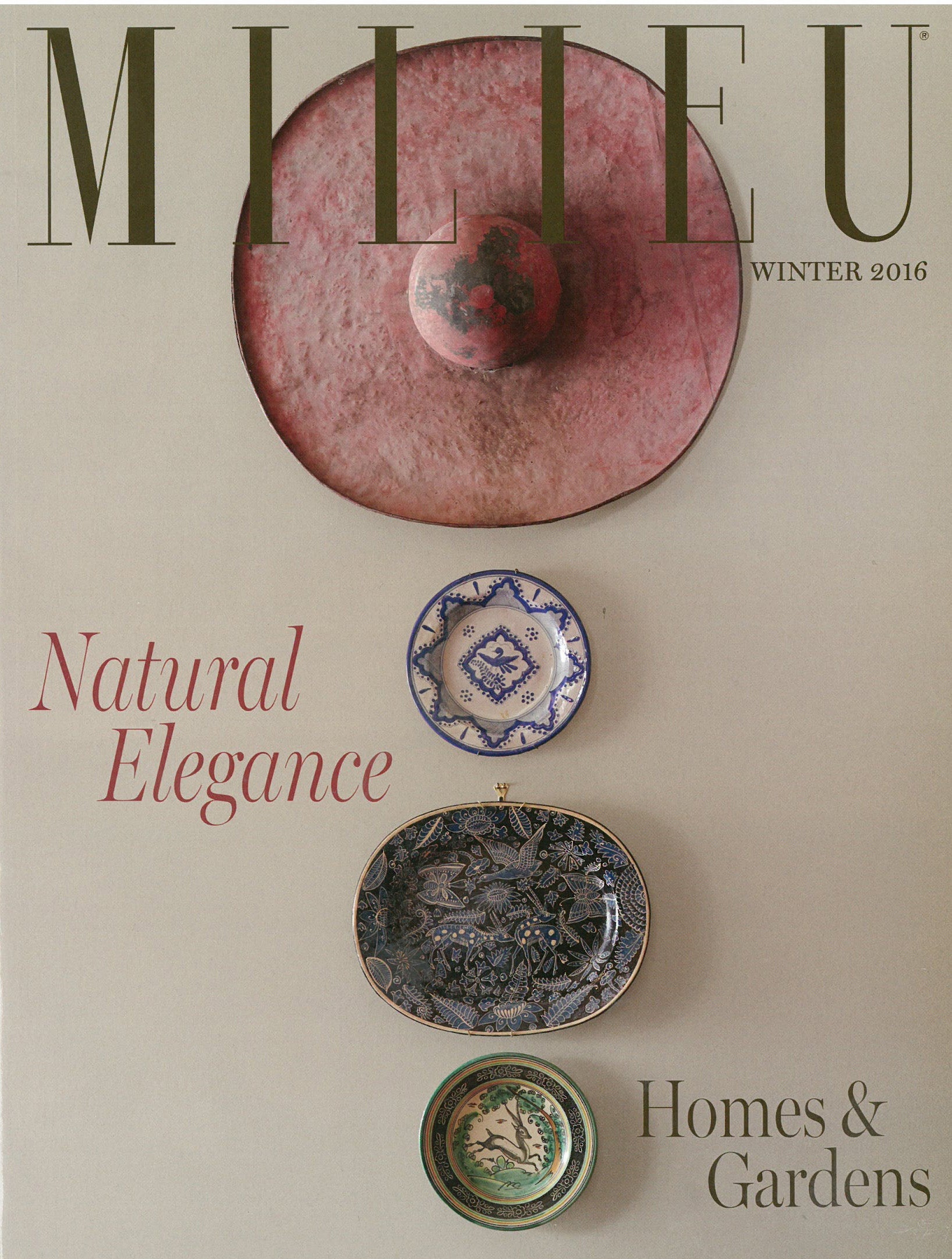 Milieu cover from Winter 2016 issue