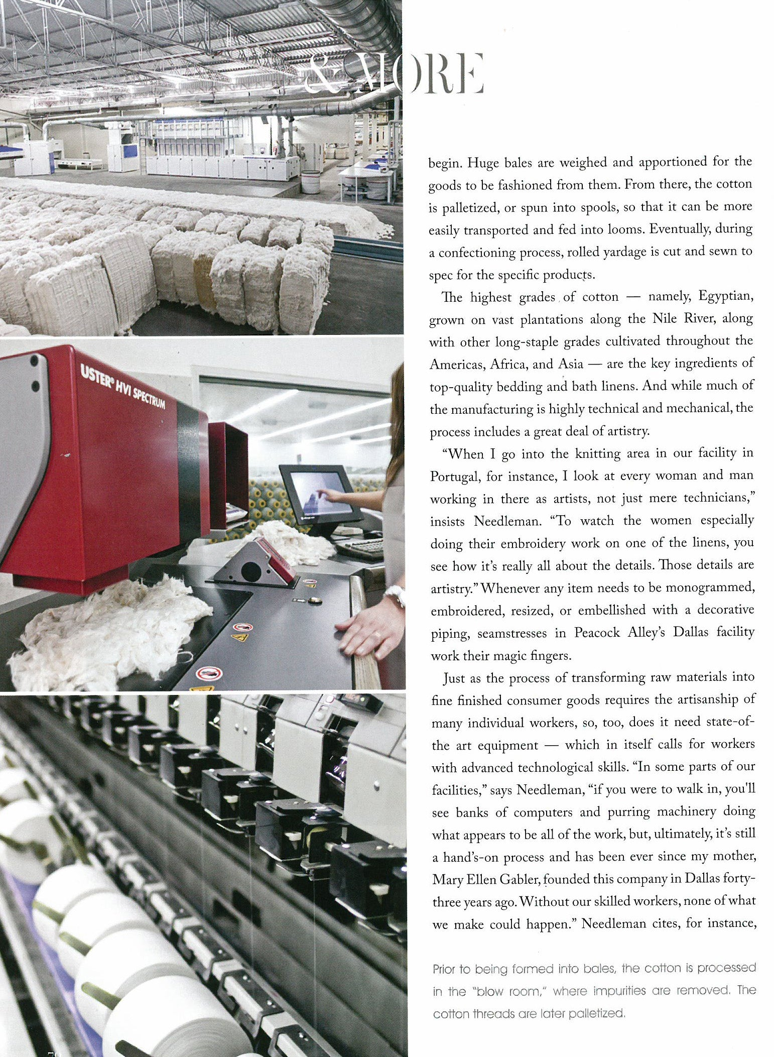 Page two of Milieu article, A Cotton Tale