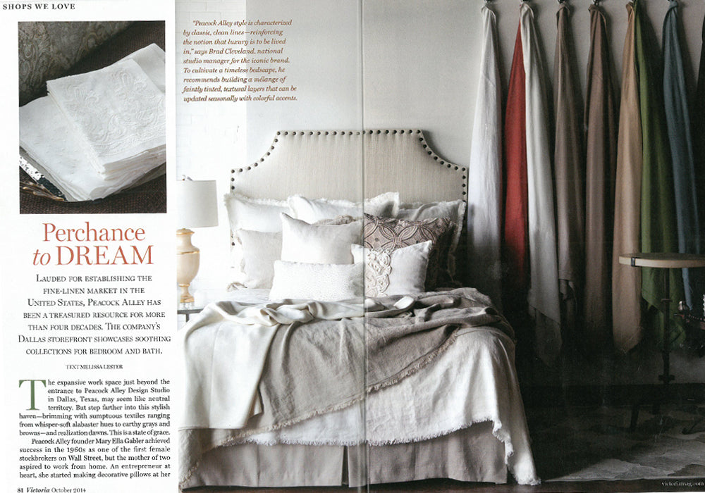 Peacock Alley spread in Victoria Magazine, October 2014