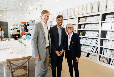 Jason Needleman Sundar Pichai and Mary Ella Gabler