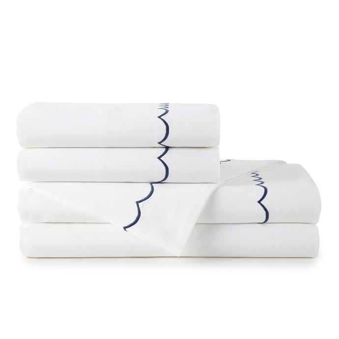 Anna Scallop Sateen Sheet Set