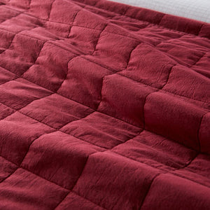 4 Square Berry Quilted Coverlet