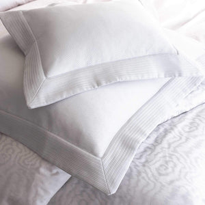 white Angelina pique shams on matching bedding