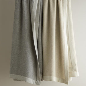 Hanging italian menswear inspired blanket in flint and linen colors