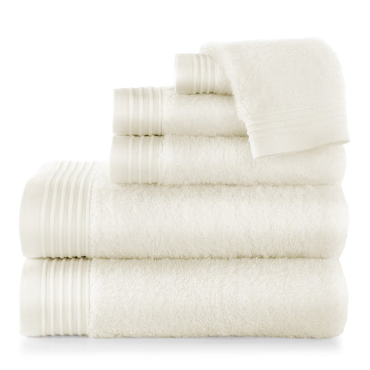 Ivory Bamboo Bath Towel Stack