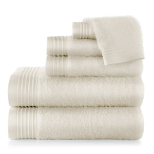 Linen Bamboo Bath Towel Stack