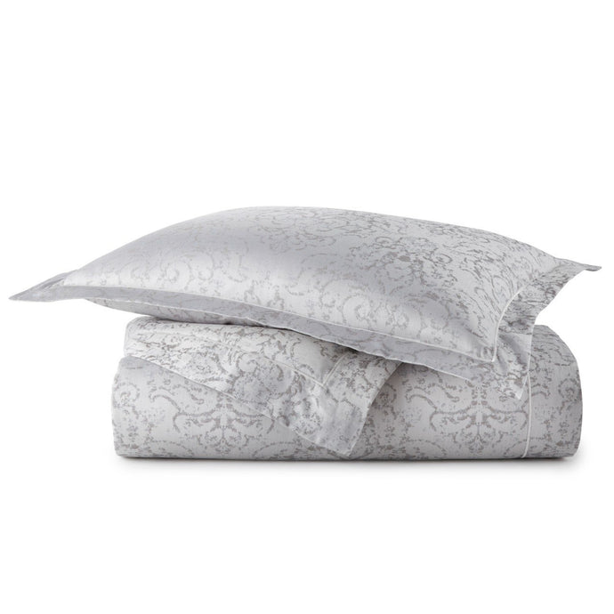 Bella pewter duvet and sham stack